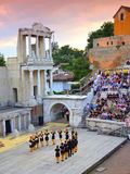 Ancient amphitheater stage dancers Stock Photography