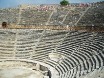Ancient amphitheater. In sunny day in turkey Royalty Free Stock Photography