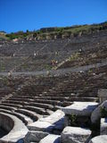 Ancient amphitheater. In sunny day in turkey Stock Photos