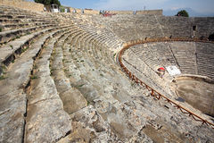 Ancient amphitheater in Turkey Stock Photo