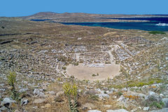Ancient amphitheatre, Delos island Royalty Free Stock Image