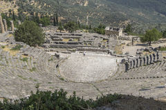 Ancient amphitheatre at Delphi in Greece Royalty Free Stock Photo
