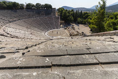 The ancient amphitheatre of Epidaurus in Greece Royalty Free Stock Photo