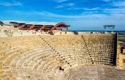 Ancient amphitheatre in Kourion Stock Photo