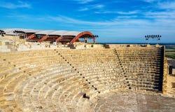 Ancient amphitheatre in Kourion Stock Photo