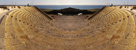 Ancient amphitheatre, mirrored Royalty Free Stock Photo