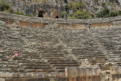 Ancient amphitheatre Stock Photos