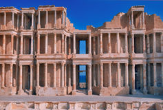 Ancient amphitheatre in Sabratha Stock Photos