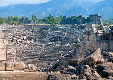 Ancient amphitheatre in Tlos Stock Images