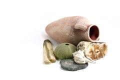 Ancient Amphora And Shells Royalty Free Stock Image