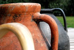 Ancient amphora end pots Royalty Free Stock Image
