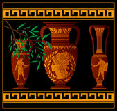 Ancient amphora and jugs Stock Photos