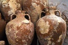 Ancient Amphoras in Bodrum Castle Stock Photos