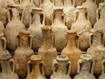 Ancient amphoras Royalty Free Stock Photography