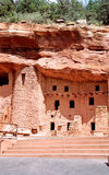 Ancient Anazasi dwellings. A view of reproductions of ancient Native American Anazasi cliff dwellings near Manitou Springs, Colorado (USA Royalty Free Stock Image
