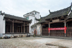The ancient ancestral hall and stage Stock Photos