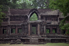 Ancient Angkor building in jungle Royalty Free Stock Photo