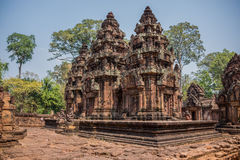 Ancient Angkor Ruins at Cambodia, Asia. Culture, Tradition, Religion. Royalty Free Stock Photography
