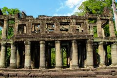 Angkor Temples in Siem Reap, Cambodia royalty free stock photo