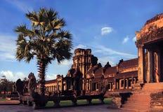 Ancient Angkor Wat Stock Photo
