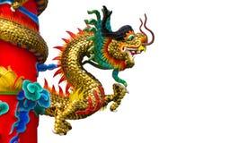 Ancient animal dragon pole Royalty Free Stock Image