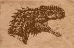 Ancient animals. Ancient animal that became extinct royalty free illustration