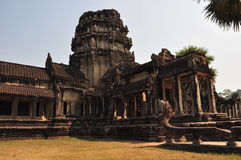 Ancient Ankor Wat  in  Cambodia Royalty Free Stock Image