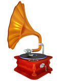 Ancient antiquarian gramophone Royalty Free Stock Photos