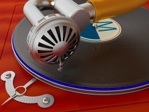 Ancient antiquarian gramophone Stock Images