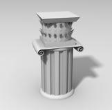 Ancient antique 3d column. Ancient marble antique 3d column royalty free illustration
