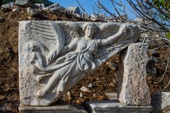 Ancient antique city of Efes, Ephesus ruins. Ancient antique city of Efes Celsus library ruin in Turkey. Ancient Greek city Ephesus ruins on the southern stock images