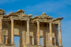Ancient antique city of Efes, Ephesus library ruin in Turkey. Ancient antique city of Efes Celsus library ruin in Turkey. Ancient Greek city Ephesus ruins on the Royalty Free Stock Photography