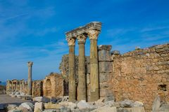 Ancient antique city of Efes, Ephesus ruin in Turkey. Ancient antique city of Efes Celsus library ruin in Turkey. Ancient Greek city Ephesus ruins on the Stock Image
