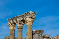Ancient antique city of Efes, Ephesus ruin in Turkey. Ancient antique city of Efes Celsus library ruin in Turkey. Ancient Greek city Ephesus ruins on the Royalty Free Stock Photo