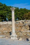 Ancient antique city of Efes, Ephesus ruins royalty free stock photos