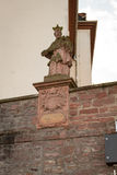 Ancient antique figure at church. Seligenstadt Royalty Free Stock Images