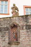 Ancient antique figure at church #4. Seligenstadt Royalty Free Stock Images