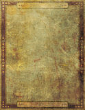 Ancient Antique Grunge Paper Frame Page Graphic Design Stock Image