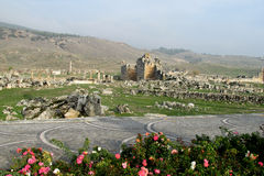 Ancient antique ruins of Hierapolis Royalty Free Stock Image