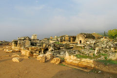 Ancient antique ruins of Hierapolis Stock Photo