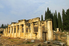 Ancient antique ruins of Hierapolis Stock Photography