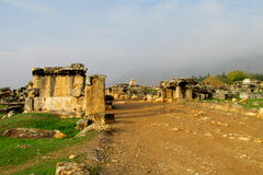 Ancient antique ruins of Hierapolis Stock Images