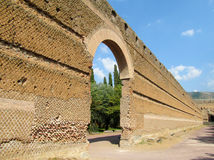 Ancient antique ruins of Villa Adriana, Tivoli Rome stock photos