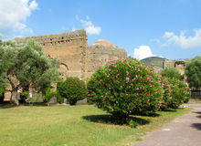 Ancient antique ruins of Villa Adriana, Tivoli Rome Royalty Free Stock Photography