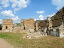 Ancient antique ruins of Villa Adriana, Tivoli Rome Stock Photos