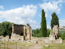 Ancient antique ruins of Villa Adriana, Tivoli Rome Royalty Free Stock Photo