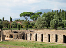 Ancient antique ruins of Villa Adriana, Tivoli Rome Royalty Free Stock Image