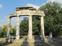 Ancient antique ruins of Villa Adriana, Tivoli Rome stock photography
