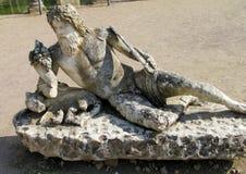 Ancient antique statue in Villa Adriana, Tivoli Rome stock photos