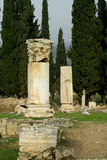 Ancient antique temple ruins of Hierapolis Stock Photo